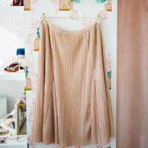 Anthropologie Maeve • Metallic Pleated Skirt • S